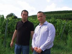 Winzer Martin Schmidt vom Weingut Kiefer