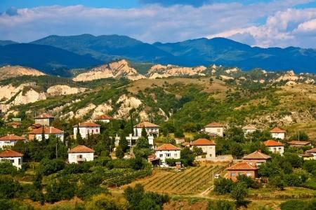 Weinbau Bulgarien Gebirgsansicht