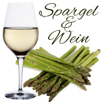 Spargel und Wein; Weißwein wie Burgunder, Rivaner